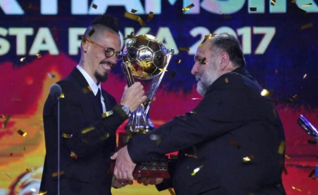 db6795e0fb Hamšík je slovenským futbalistom roka aj štvrťstoročia
