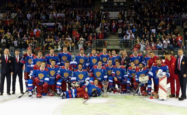 67d0482ea6a62 Olympijský tím Ruska získal Nemecký pohár, v súboji o prvenstvo otočil  zápas so Švajčiarmi